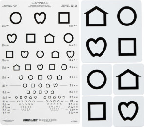 Proportional Spaced LEA Symbols® Chart Set, 10 Foot