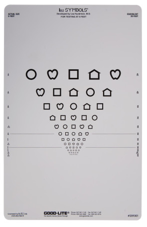 Proportional Spaced LEA Symbols® Preschool Chart, 5 Foot