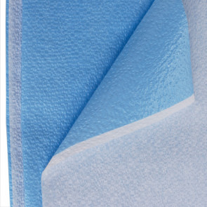"Drape Sheet, Blue, Poly/Tissue 40"" x 72"", 50/Case"