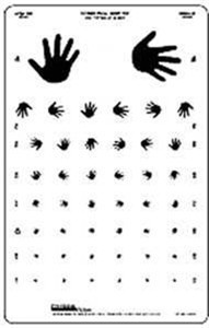 Wide Spaced Hand Chart, 10 Foot