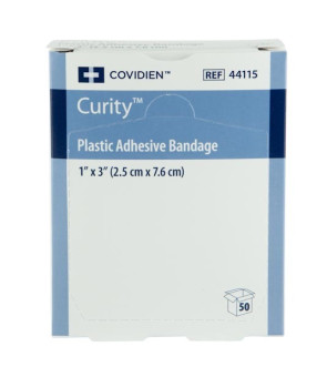"Covidien Curity® 1"" x 3"" Plastic Bandages, 50/Box"