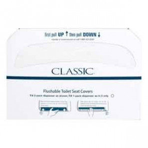Toilet Seat Covers, 250/Pkg