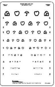 Linear Spaced Symbol Chart, 10 Foot