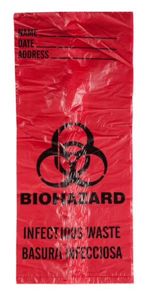 Biohazard Waste Bags, 1 Gallon, 20/Roll