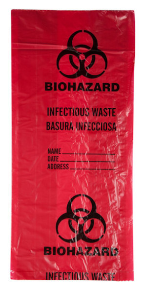Biohazard Waste Bags, 3 Gallon, 20/Roll