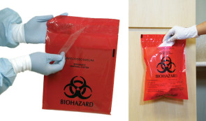 2.6 Qt Stick-On Infectious Waste Disposal Bags, 100/Box