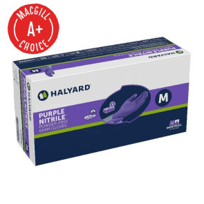 Halyard Purple® Nitrile Gloves,  Medium, 100/Box