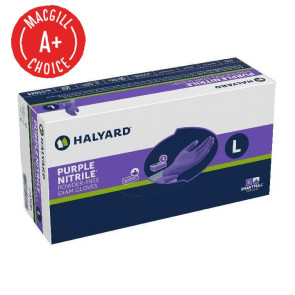 Halyard Purple® Nitrile Gloves, Large, 100/Box
