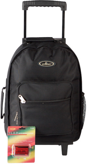Rolling Backpack with LED Safety Signal