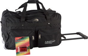 Rolling Duffel Bag with LED Safety Signal