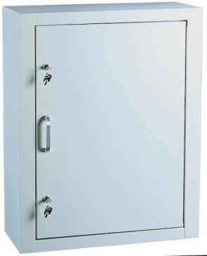 Single Door/Double Lock Narcotic Cabinet, Light Grey