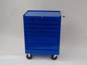 Blue 6-Drawer Treatment/Procedure Cart