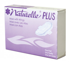 Naturelle® Plus Feminine Napkins, Indv. Boxed, 250/Case
