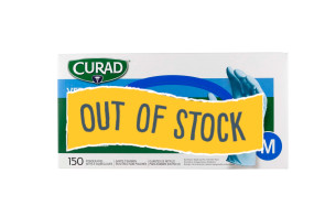 (Out of Stock) Medium Curad Nitrile Gloves, 150/Box