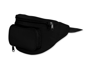 Nylon Fanny Pack, Black