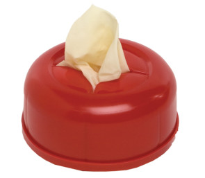 Glove Canister with Velcro, Red