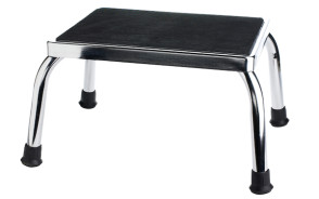 Foot Stool - Chrome-Plated w/Rubber Feet