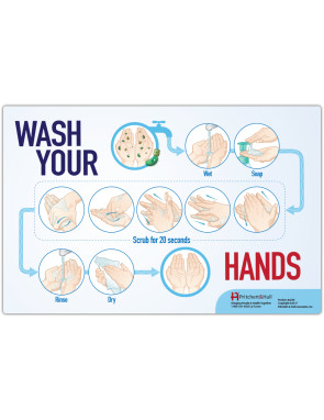 Wash Your Hands, Laminated Poster
