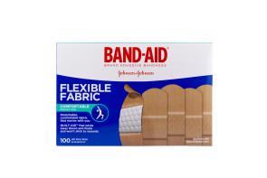 "J&J 1"" x 3"" Flexible Fabric Bandages, 100/Box"