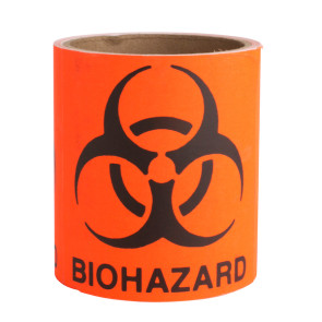 "Biohazard Labels, 4"" x 4"", 50/Roll"