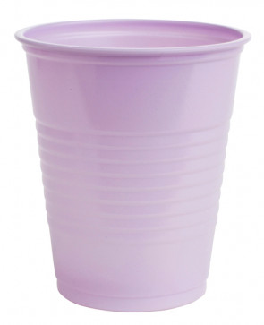Lavender Crosstex 5 Oz Plastic Cups, 100/Tube