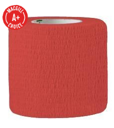 "2"" x 5 Yds Latex-Free Economy Self Adherent Wrap, Red"