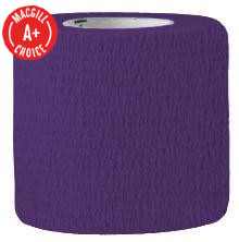 "2"" x 5 Yds Latex-Free Economy Self Adherent Wrap, Purple"