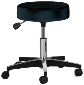 Adjustable Five Leg Stool - Black w/o Backrest