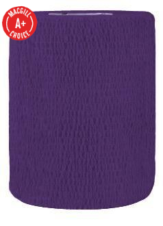 "3"" x 5 Yds Latex-Free Economy Self Adherent Wrap, Purple"