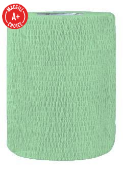 "3"" x 5 Yds Latex-Free Economy Self Adherent Wrap, Green"