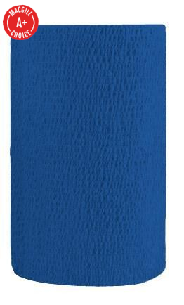 "4"" x 5 Yds Latex-Free Economy Self Adherent Wrap, Blue"