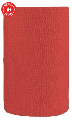 "4"" x 5 Yds Latex-Free Economy Self Adherent Wrap, Red"