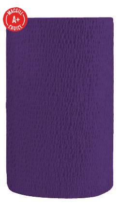 "4"" x 5 Yds Latex-Free Economy Self Adherent Wrap, Purple"