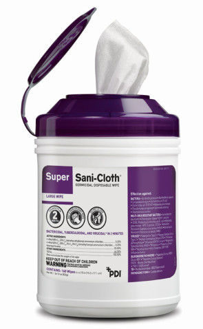 PDI® Super Sani-Cloth® Wipes, 160/Can