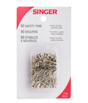 Assorted Safety Pins, 90/Pkg