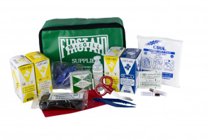 25-Person First Aid Kit, Waist Pack, Green