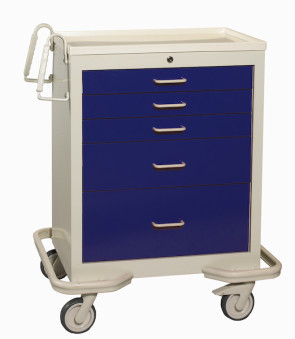 Deep Blue 5-Drawer Treatment/Procedure Cart