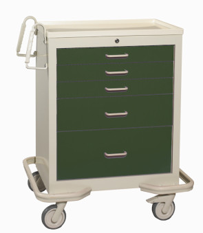 Hunter Green 5-Drawer Treatment/Procedure Cart