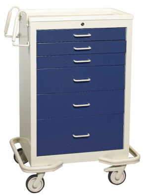 Deep Blue 6-Drawer Treatment/Procedure Cart