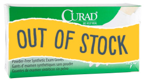 (Out of Stock) Small Curad Stretch Vinyl Gloves, 10 Bx/Case