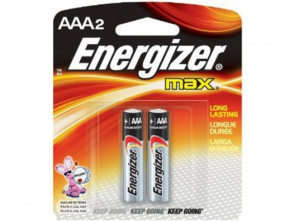 "Eveready® Energizer® ""AAA"" Alkaline Batteries 2/Pack"