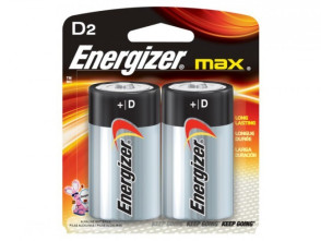 "Eveready® Energizer® ""D"" Alkaline Batteries, 2/Pack"