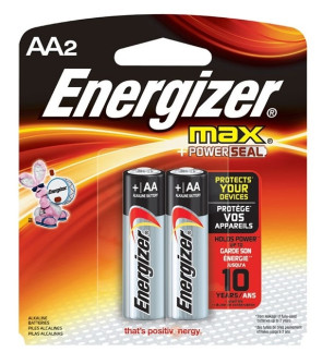 "Eveready® Energizer® ""AA"" Batteries, 2/Pack"