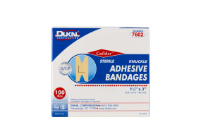 """1-1/2"""" x 3"""" Flexible Fabric Knuckle Bandages, 100/Box"""