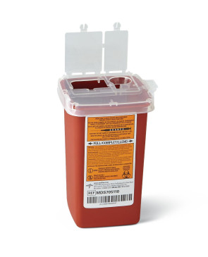 1 Quart Infectious Waste Container (Holds up to 20 Syringes)