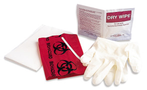 Quick Clean-Up Kit with Vinyl Gloves