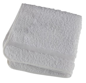 "Washcloths, White, 13"" x 13"", 12/Pkg"