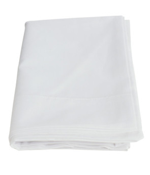 Pillow Case, White, Poly/Cotton Blend
