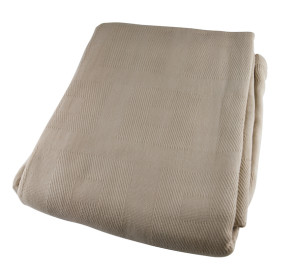 "Blanket, Cotton Thermal 66"" x 90"", Beige"