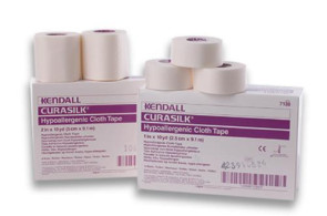 "Kendall 2"" x 10 Yds Curasilk Tape, 6/Box"